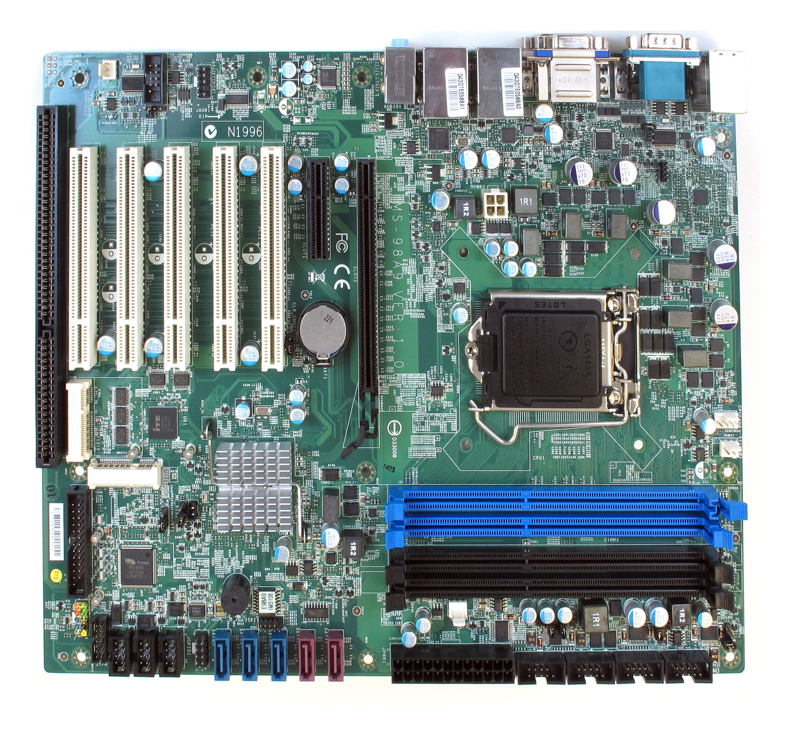 MS-98A9 Industrial Motherboard Top