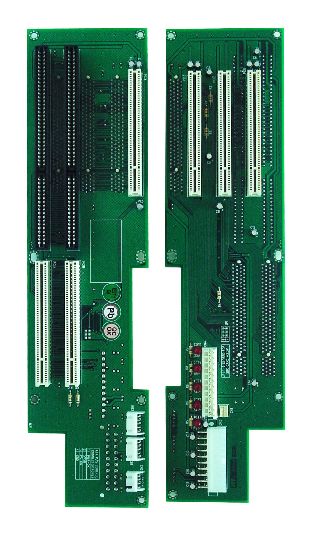 2UP4 PICMG 1.0 Butterfly Backplane