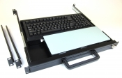 624P-B 1U Rack Mount Keyboard with Mouse Pad