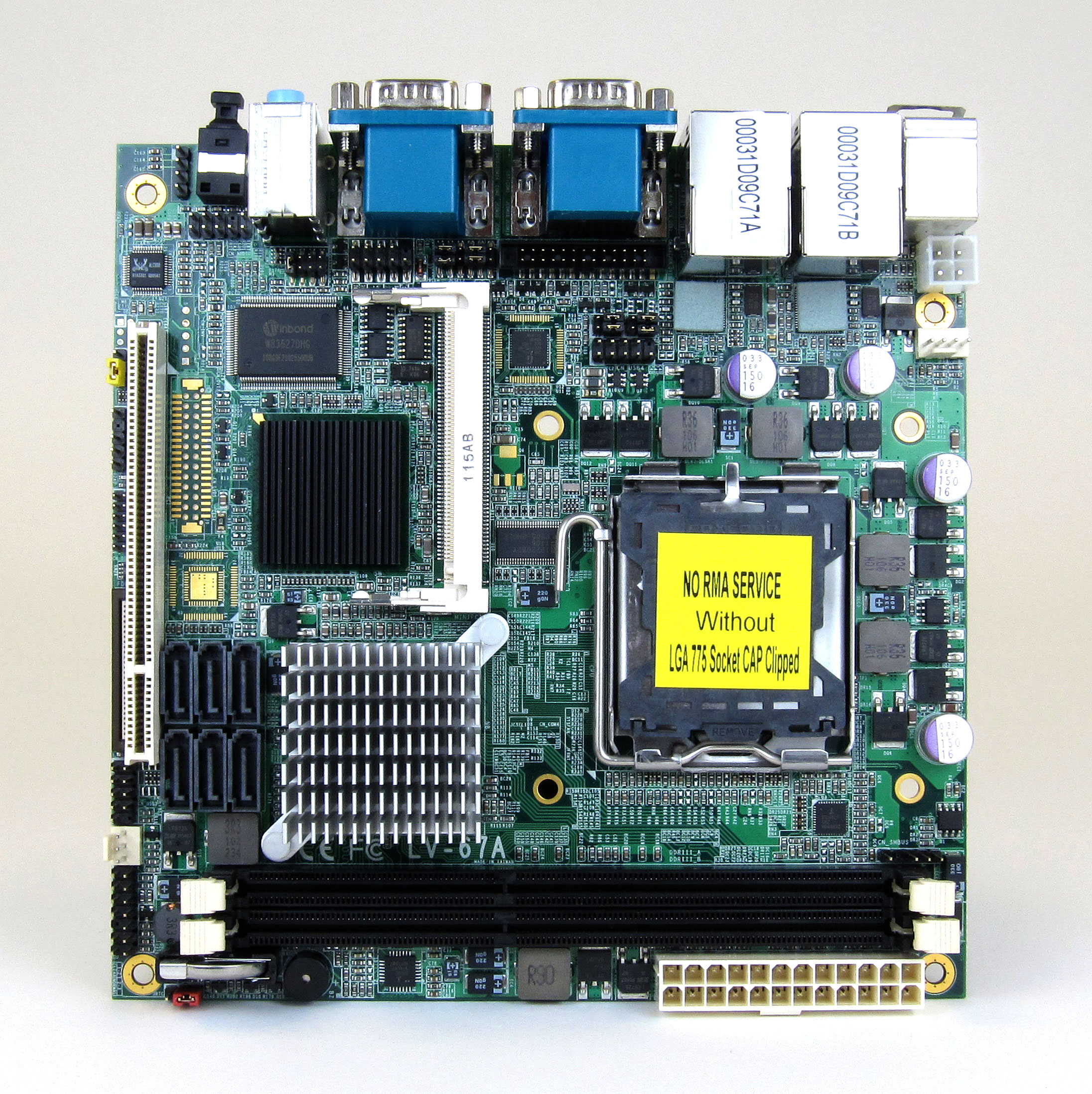 LV-67A Industrial Mini-ITX Motherboard Top