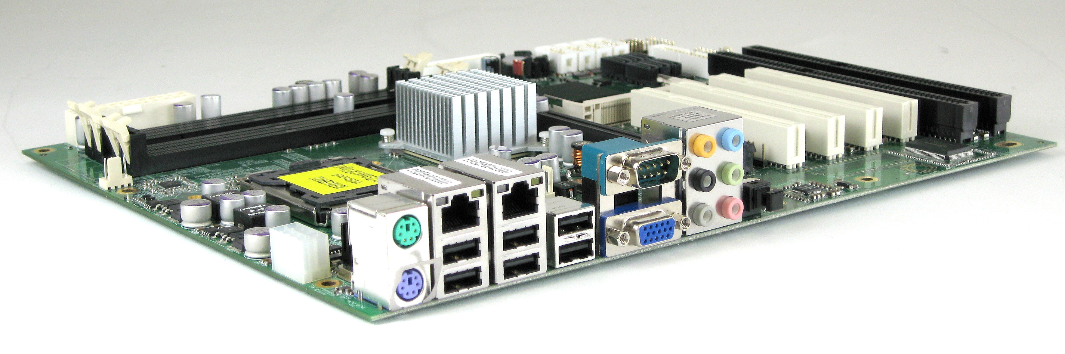 P4BWA Industrial Motherboard Rear Panel
