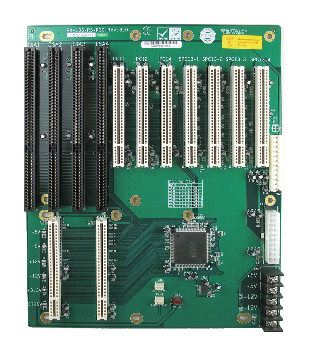 PX-10S PICMG 1.0 Backplane