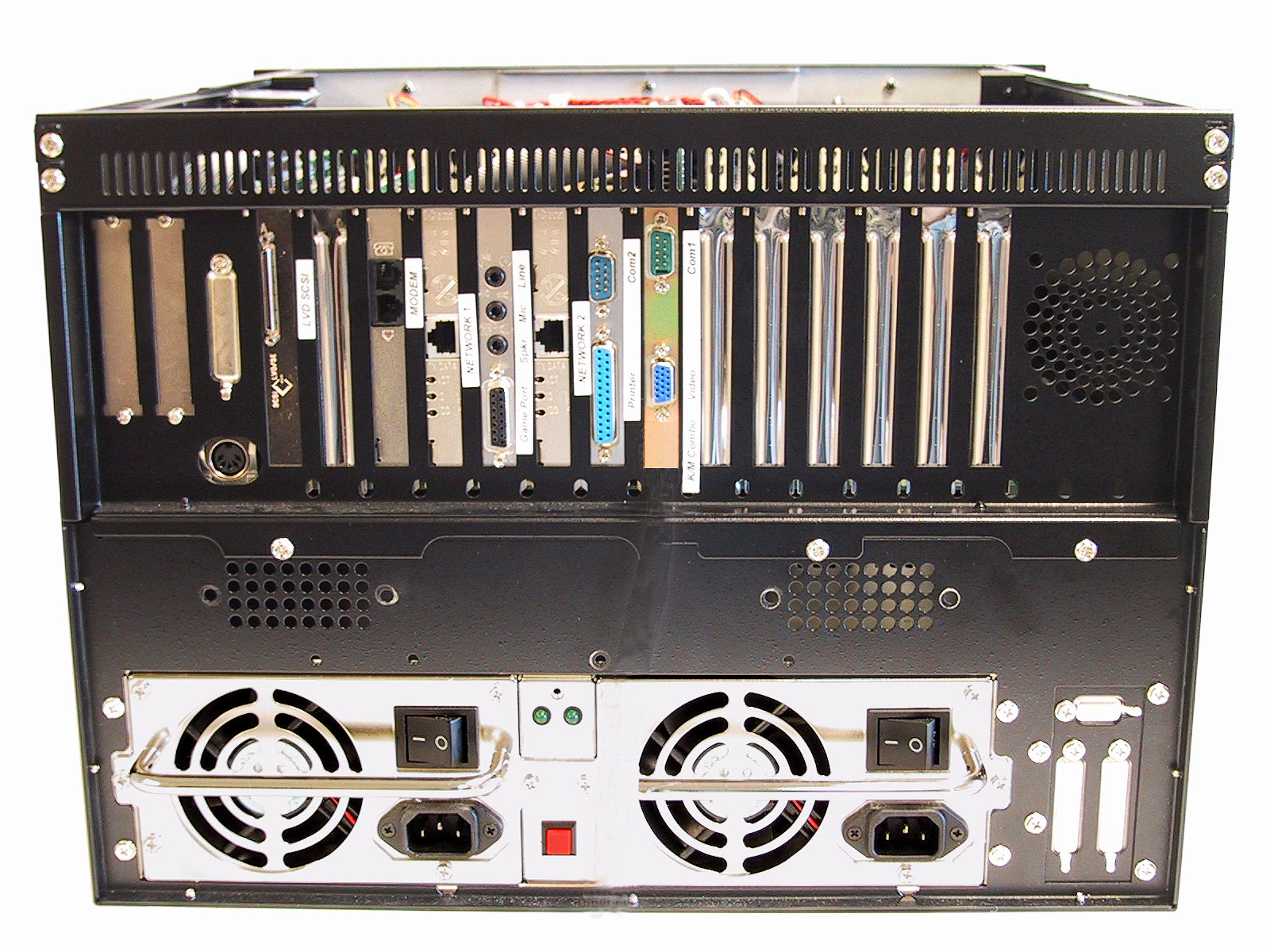 AD-827 7U Industrial Rack Mount Computer Rear