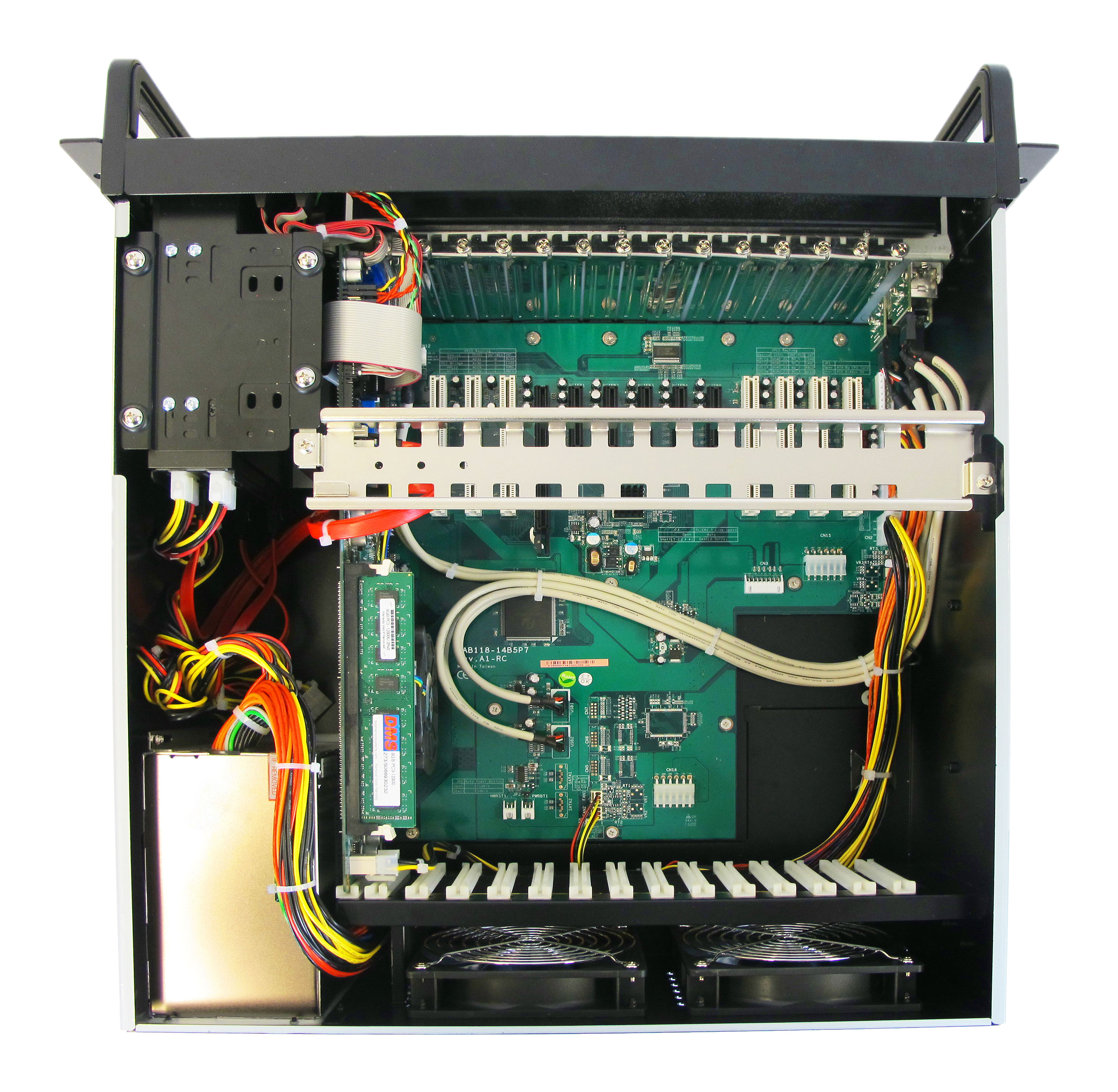 AD-581 1U Industrial Instrumentation Rack Mount Computer Internal